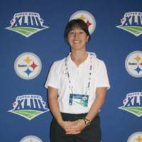 Trailblazer: Ariko Iso, a Tokyo native, is an athletic trainer for the Pittsburgh Steelers. She will work her second Super Bowl with the team Sunday against Arizona. | KAZ NAGATSUKA