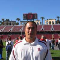 Pursuing a dream: Tsuyoshi Kawata left the comfort of his job at Recruit Co., Ltd., to pursue a football career in the United States. He serves as a volunteer assistant coach for Stanford University. | TSUYOSHI KAWATA PHOTO