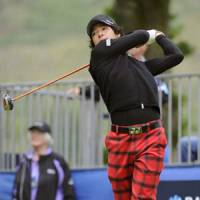 Ryo Ishikawa  watches his shot during the first round of the Scottish Open on Thursday in Glasgow.