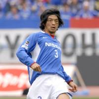 Solid defender: Former Japan international Naoki Matsuda died in a Nagano hospital on Thursday at the age of 34. Matsuda, who played for the Yokohama F. Marinos for 16 seasons, collapsed while training on Tuesday morning. | KYODO PHOTO