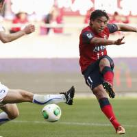 Samba magic: Kashima Antlers striker Davi is hoping to become the latest in a long line of Brazilians to find success at the Ibaraki club. | KYODO