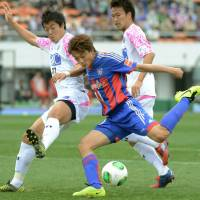Ambitious: FC Tokyo's Tadanari Lee wants back in Japan's national side after an injury-plagued tenure with Southampton. | KYODO