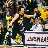 Championship quest: Link Tochigi Brex point guard Yuta Tabuse and his teammates have advanced to the JBL Finals for the first time.   KYODO PHOTO