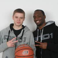 Spread the word: Grayson Boucher, left, and Alonzo Miles want to use streetball to inspire people.   KAZ NAGATSUKA