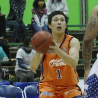 Important role: Veteran guard and local product Taishiro Shimizu is the first captain in Miyazaki Shining Suns history. | MIYAZAKI SHINING SUNS/BJ-LEAGUE