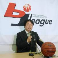 Moving forward: Sendai 89ers president Teruhisa Nakamura says the team plans to return to action for the 2011-12 season, but work must be done to add sponsors to help the team meet its financial obligations. | KYODO PHOTO
