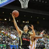 Feel for the game: Toyama's All-Star guard Masashi Joho is one of the elite Japanese players in the bj-league.   KYODO