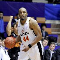 Clean as a whistle: Osaka Evessa star Lynn Washington was released from jail on Friday after 18 days following his arrest in a drug case. Washington passed a drug test and no charges were filed against him. | YOSHIAKI MIURA