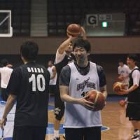 Familiar faces: Toyota Motors Alvark teammates Keijuro 'K.J.' Matsui (above) and Taishi Ito played for Montrose Christian School in Rockville, Maryland, before moving on to different NCAA Division I college teams, Columbia and University of Portland. | KAZ NAGATSUKA