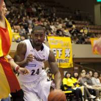 Mr. Consistency: Yokohama B-Corsairs forward Justin Burrell led his team to a second-place finish in the bj-league's Eastern Conference as a first-year franchise. | DOMINIKA FITZGERALD