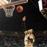 King for a day: Ryukyu's Narito Namizato shoots during the Golden Kings' 79-74 win on Saturday. | KYODO