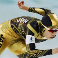 Need for speed: Speedskater Nao Kodaira competes in the women's Olympic 1,500-meter race on Sunday. | KYODO PHTO