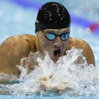 Never in doubt: Ryan Lochte swims during the 400 IM final on Saturday in London. | AP