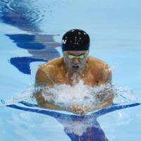 Sunk: Two-time defending Olympic champion Kosuke Kitajima finished fifth in the 100-meter breaststroke on Sunday, denying him a chance at completing an unprecedented third 100-200 breaststroke double at the London Games. | KYODO