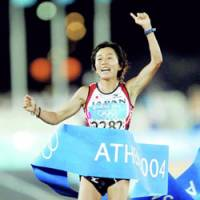 Passed over: Reigning Olympic marathon champion Mizuki Noguchi is not among the finalists to carry the flag for Japan at the Opening Ceremony of the Beijing Games in August. | KYODO PHOTO