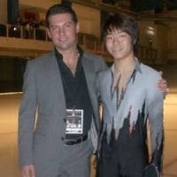 Frozen out: Coach Nikolai Morozov and Daisuke Murakami saw their season get off to a dubious start at the Mexico City Junior Grand Prix last month after the skater was barred from participating. | MOROZOV SPORTS
