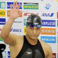 You decide: Takeshi Matsuda and other Japanese swimmers will be free to choose their own swimsuits in international competition this year, the JASF has announced. | KYODO PHOTO