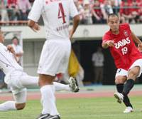 Signs of life: Naohiro Takahara has struggled since joining Urawa Reds early in 2008, but scored in last week's 2-0 win over Vissel Kobe. | KYODO PHOTO
