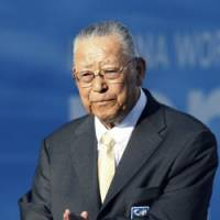 Longtime figure: Hironoshin Furuhashi served as the JOC president and Japan Swimming Federation president during a distinguished career as a sports leader. He died on Aug. 2 at the age of 80. | KYODO PHOTO