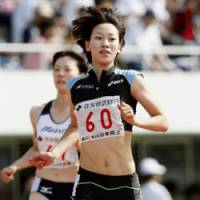 Speedy performer: Sprinter Chisato Fukushima, who established national records in the women's 100- and 200-meter races at the national championships in June, returns to the spotlight on Sunday at the IAAF World Athletics Championships in Berlin. | KYODO PHOTO