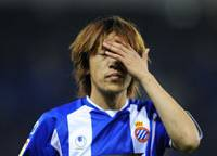 Eyes wide shut: Shunsuke Nakamura has endured a torrid time since moving to Espanyol in the summer, compounding a frustrating year for Japan's key player. | AP PHOTO