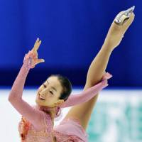 Time to shine: Mao Asada, who hasn't won a competition this season, is off to a strong start at the Japan Figure Skating National Championships. Mao posted the highest score in the short program with 69.12 points on Saturday. | KYODO PHOTO