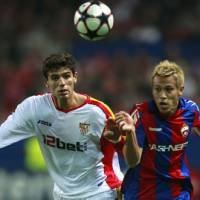 Blond ambition: Keisuke Honda has made a huge impact since joining CSKA Moscow at the start of the year and could hold the key to Japan's World Cup chances. | AP PHOTO