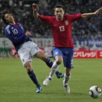 Safe bet: Shunsuke Nakamura did not impress in last week's friendly defeat to Serbia, but his place in Takeshi Okada's World Cup squad is secure. | AP PHOTO