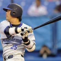 Moving on up: Slugger Shuichi Murata has done his fair share for the BayStars over the past eight games. | KYODO PHOTO