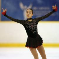 One to watch: Fourteen-year-old Risa Shoji was victorious in her international debut at the SBC Cup Junior Grand Prix in Karuizawa, Nagano Prefecture, last weekend. | KYODO PHOTO