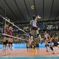 In the final four: Yukiko Ebata (center) and Japan will face a tall task when they take on Brazil in their semifinal on Saturday at the FIVB Women's World Championship in Tokyo. | FIVB