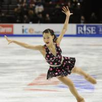 High energy: Kanako Murakami qualified for next month's Grand Prix Final in Beijing with her first senior Grand Prix victory at Skate America last weekend. | KYODO PHOTO