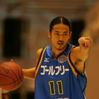 Sanctioned: Shiga Lakestars point guard Takamichi Fujiwara is one of many players in the bj-league who have grown increasingly frustrated by the quality of officiating. He served a one-game suspension last month for criticizing the referees.   SHIGA LAKESTARS / BJ-LEAGUE