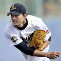 New beginning: Orix hopes for a resurgent year out of Hayato Terahara. | KYODO PHOTO