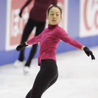 Back to work: Figure skater Mao Asada, a two-time world champion, will compete in the national championships in Osaka Prefecture two weeks after her mother's death. | KYODO PHOTO