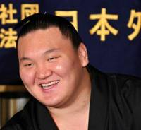Determination defined: Yokozuna Hakuho endured some tough times as he rose through the ranks of sumo. | AP PHOTO