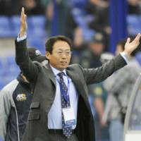 Steady leadership: Japan manager Takeshi Okada guides his team to a berth in the 2010 World Cup finals, completing the task with a 1-0 triumph over Uzbekistan on Saturday in Tashkent. In his first stint at the helm, Japan set a benchmark for future national teams, reaching the 1998 World Cup finals.