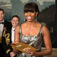 Oscar buzz: U.S. first lady Michelle Obama announces the Best Picture Oscar live from the White House on Feb. 24. | AP