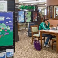 An Exelon display is seen at the public library in Byron, Illinois, late last year. | ANDREW BOROWIEC