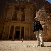 Step back in time: U.S. President Barack Obama tours the ancient city of Petra in Jordan on Saturday. | AP