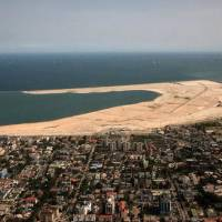 A view of the first phase of Eko Atlantic, a new mega-city development on the Lagos coastline in Nigeria. Embassy of Nigeria