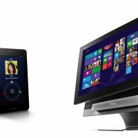 AsusTek's Fonepad (lef) and 'all-in-one' PC TransAiO