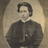 'Portrait of Toshizo Hijikata' (partial, c. 1869). Photographer unknown. | HAKODATE CITY CENTRAL LIBRARY.