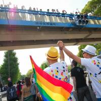 Say it proud: Marchers take part in last year's Tokyo Rainbow Pride parade. | © KANAKO BABA, TOKYO RAINBOW PRIDE