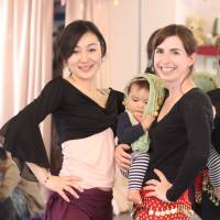 Eastern diet: Belly-dancing instructor Sahila with the author during a recent class for mothers and their babies. According to Sahila, 'There have long been belly-dancing ceremonies for childbirth in the Arab world.' | DANIELLE DEMETRIOU