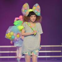 Gu-d to go: Uniqlo's Gu brand, which Kyary Pamyu Pamyu recently has been collaborating with, takes to the runway. | SAMUEL THOMAS