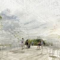 Serpentine Gallery Pavilion (2013), designed by Sou Fujimoto Interior Indicative CGI. | © STUDIO CYRILLE THOMAS FOR SOU FUJIMOTO ARCHITECTS
