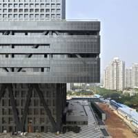 The Shenzhen Stock Exchange building designed by OMA. | COURTESY OF OMA; PHOTOGRAPHY BY PHILIPPE RUAULT