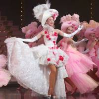 Pretty in pink: Star Troupe's top musemeyaku (female-part actress),  leading the ladies. | KANSHI H. SATO