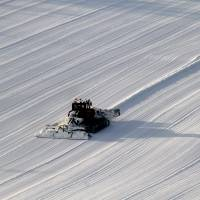 Pure and simple: Snow-grooming seen from on high. | CHRISTOPHER JOHNSON PHOTO